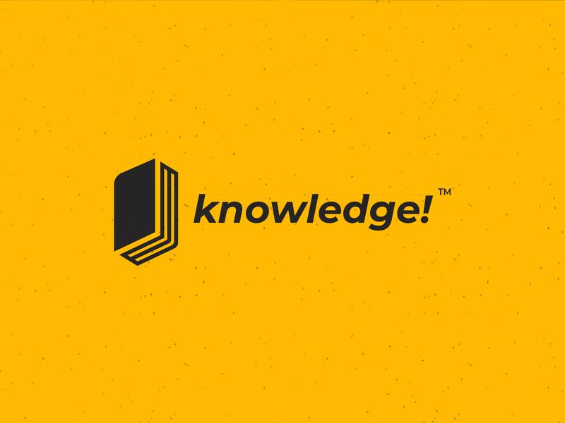 Knowledge! - logo type concept icon branding brand app vector logodesign illustration typography design logo