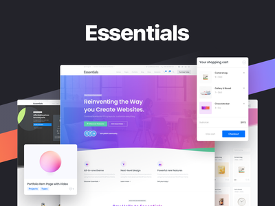 Essentials Original Demo elementor website builder branding design template illustration pixfort envato themeforest web design
