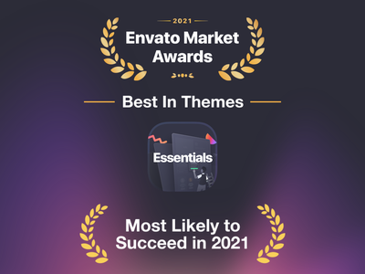 Essentials Envato Market Award wordpress theme illustration multipurpose website builder design web design pixfort envato themeforest