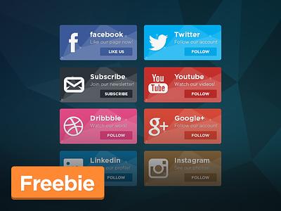 Freebie: Social Boxes freebie social boxes free media share pixfort