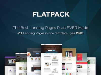 FLATPACK Multipurpose Unbounce Pack pixfort unbounce multipurpose pack template landing page themeforest