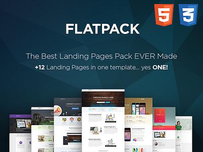FLATPACK – Landing Pages Pack With Page Builder app bundle business corporate ebook ecourse html landing mailchimp multipurpose shop university