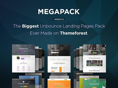 MEGAPACK - The Biggest Unbounce Landing Pages Pack bundle unbounce themeforest template pixfort pack multipurpose landing page