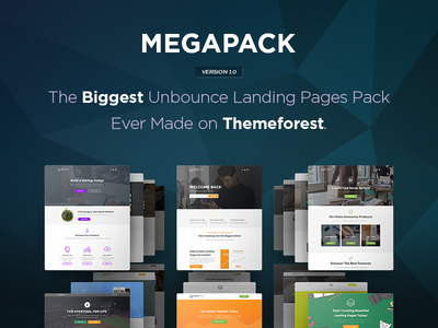 MEGAPACK - The Biggest Unbounce Landing Pages Pack