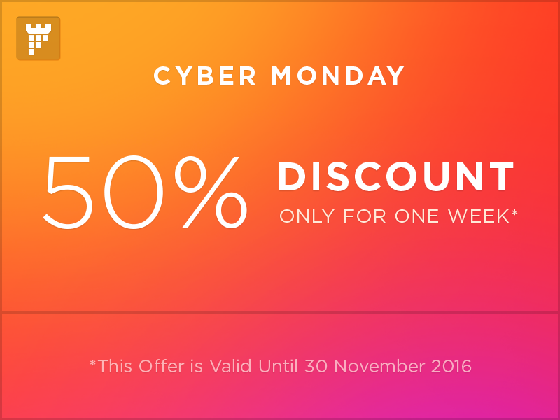 50% Discount on our best selling items on themeforest by