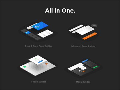 PixFort Builder Icons web design pixfort builder envato landing page html website builder themeforest