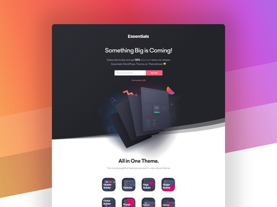 Essentials WordPress Landing page page builder after effects svg animated wordpress builder lottiefiles lottie web design illustration landing page envato themeforest