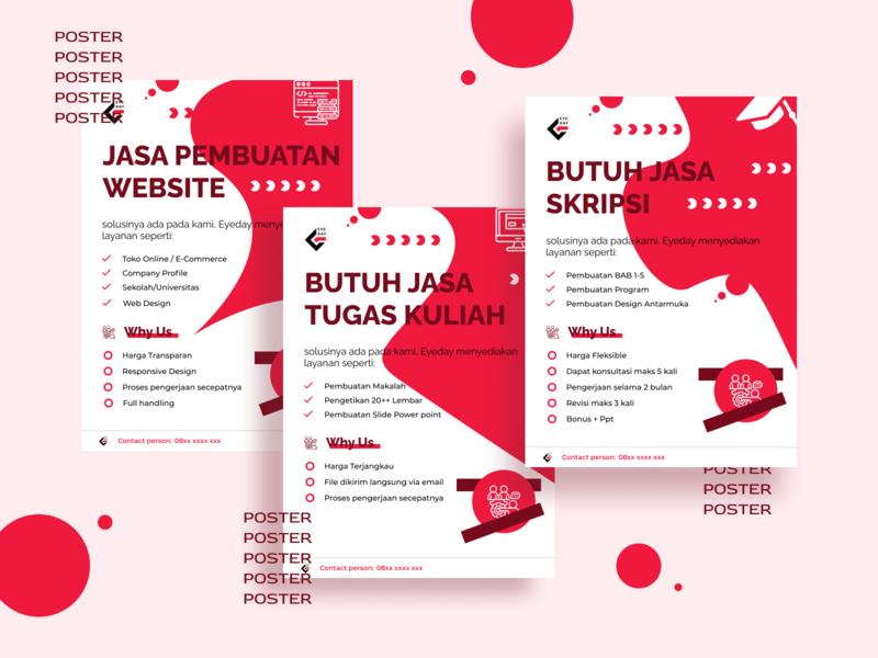 Example Poster icon typography simple ui dribbble branding ux app design
