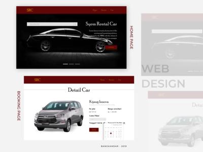 Syem Rental Car Wesite Design UI Concept