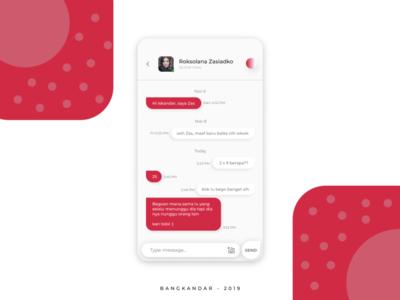 Bubble Chat Concept UI
