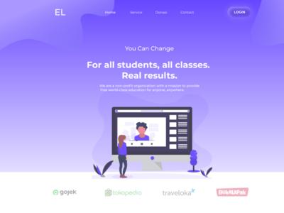 Web E-Learning UI Concept
