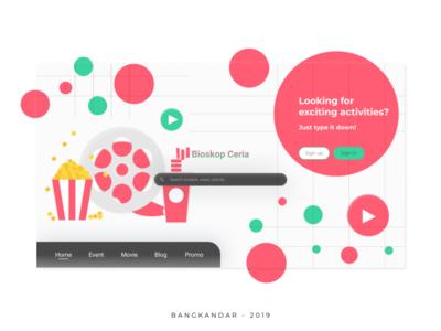 Bioskop Ceria Website UI Concept