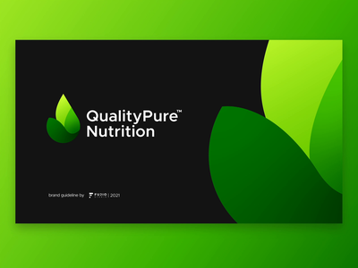 Quality Pure Nutrition Brand Guideline packaging gradient nutrition protein whey leaves leaf pure water drop ui illustration design brand guideline brand logocollection branding brand and identity brand identity logo