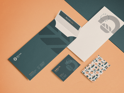 Delish Coffee Stationery Design stationery design pattern stationeries logocollection icons d logo logo brand guideline brand brand and identity cafe nature coffee shop coffee brand identity branding envelope business card design stationery