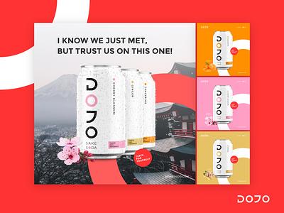 Dojo Social Media Design packaging soda can sake japanese design social media banner design digital marketing social media design social media banner social media post social media template social media pack design banners banner posts post templates template social media