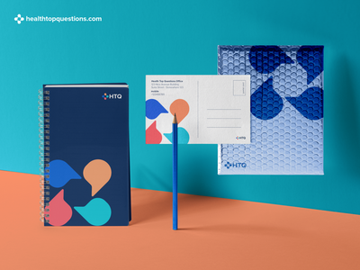 Health Top Questions Mailer and Stationery Design brand and identity mail desgin mailer stationery brand identity chat logo cross medical medical logo medical app medicine doctor doctor logo doctor app community logo community app health logo health app health care health healthy