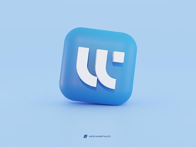 W Monogram 3D Exploration branding 3d w icon 3d w monogram 3d art 3d logo 3d icon 3d logocollection brand design logo for designer logo w w monogram monogram pictorial mark gradient gradient logo modern logo simple logo