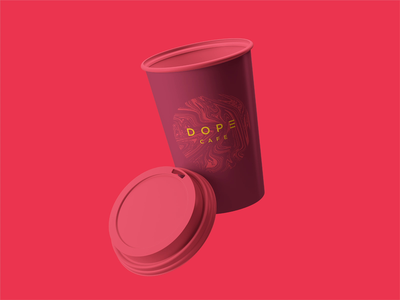 Dope Cafe Packaging Design (Used Concept) coffee cafe illustration marble label bean bag coffee bean bag burger box coffee cup pizza box box design box packaging packaging design design brand guideline brand brand and identity branding brand identity