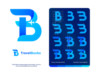 Travel Bucks Logo Concept