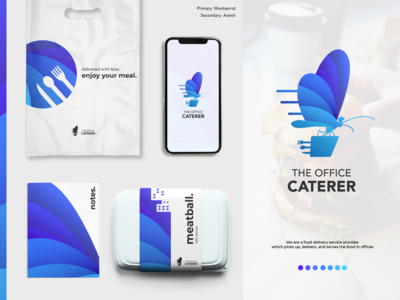 The Office Caterer Logo and Brand Concept