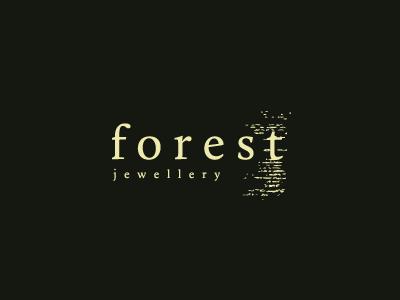 Forest Jewellery forest jewellery design logo rebrand green tree bark texture