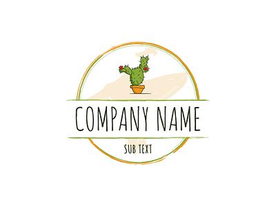 Prickly Pear Studio orange green badge logo vectorart vector illustration art design studio cactus pear prickly