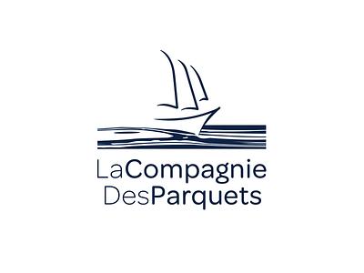 La Compagnie Des Parquets idea image sail type mark grain blue sea wood waves ship boat logo