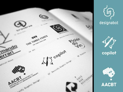 Los Logos brand brain compass pilot designabot mark identity los logos