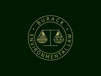Environmental Law law environment scales justice logo concept badge