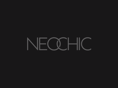 Neochic neo chic charcoal text type wordmark concept grey name brand