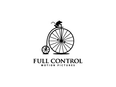 Full Control mouse wheel film reel logo animation