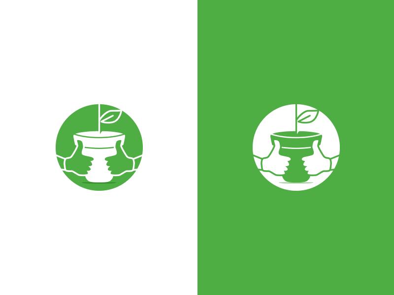 Lucky Green Thumbs #1 concept icon thumbs logo garden green lucky proposal