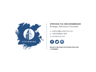 Steinberg Email Signature design steinberg brand college layout typography university strength tower signature email