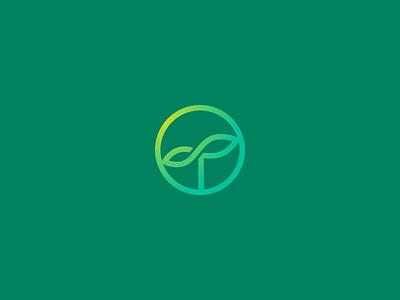 Infinity Seed crypto eco green leaf infinite circle concept idea sun logo seed growth infinity