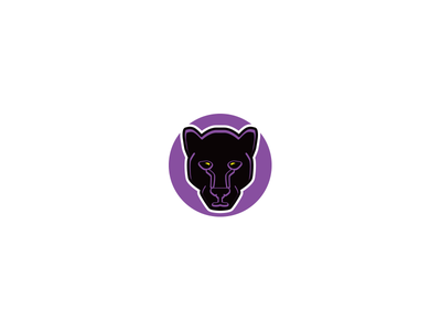 Stealth Panther vector circle mark design icon logo black incognito stealth purple panther purchase buy sell
