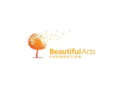 Beautiful Acts Foundation foundation logo brand dandelion tree leaves wind blow beautiful
