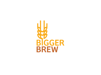 Bigger Brew domain buy concept logo mark branding brew