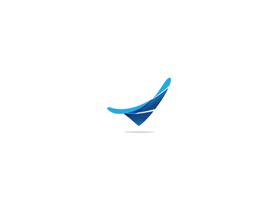 Abstract shadow fold concept idea blue buy sale logo mark fluid abstract