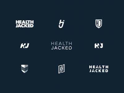 Health Jacked idea brand concept design custom typography type bold mark icon shield lightning monogram exploration logo trainer strong jacked health