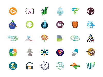 Brandbucket marks 3 icon sell concept domain brand presentation logo design mark buy sale