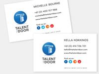 Talent Door Business Cards