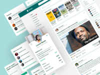 Readley: Social Network bookclub books web social network social media feed homepage figma