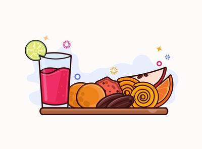iftar for ramadan graphics design illustrator logo icon flat design vector illustration