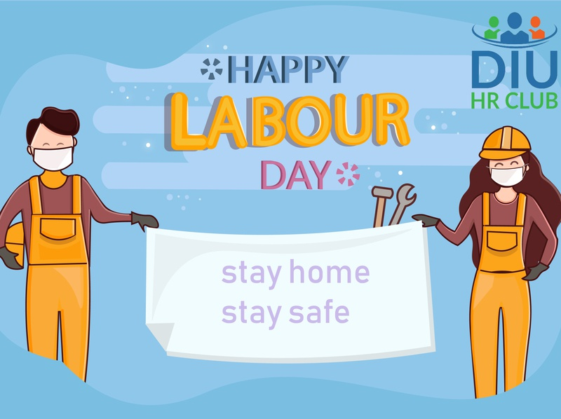 happy labour day art typography graphics design illustrator logo flat icon design vector illustration