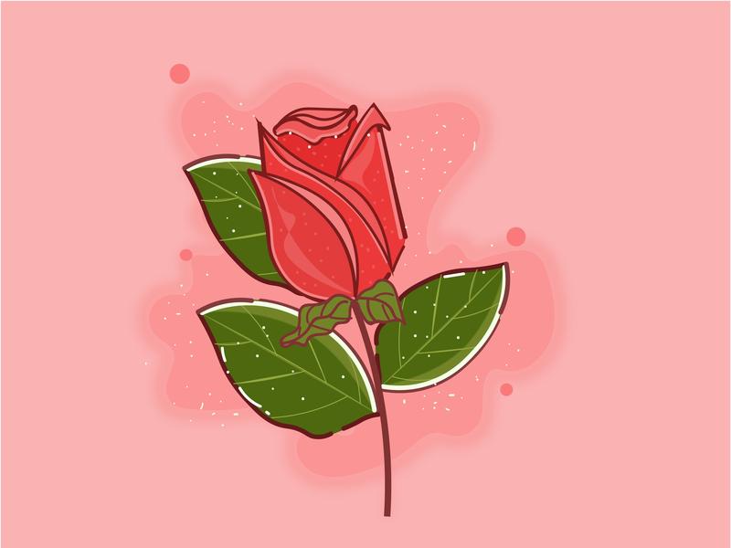 Rose logo icon flat vector design illustration