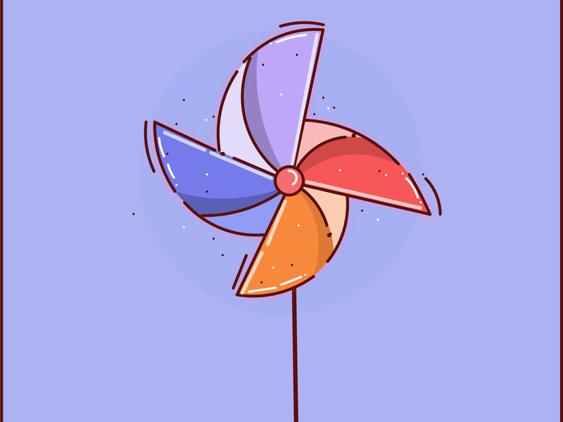 Wind logo icon flat design vector illustration