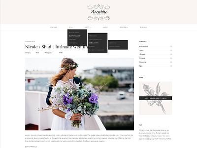 Dropdown Menu photography theme website dropdown menu