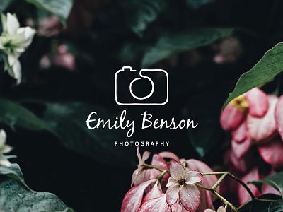 One line camera logo camera photography logo freebie
