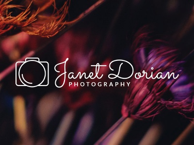 Simple photography logo camera photography logo freebie