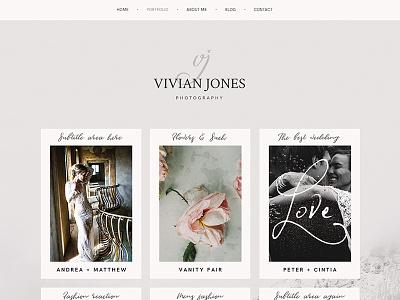 Fine art photography portfolio typography pink personal website photography layout website portfolio